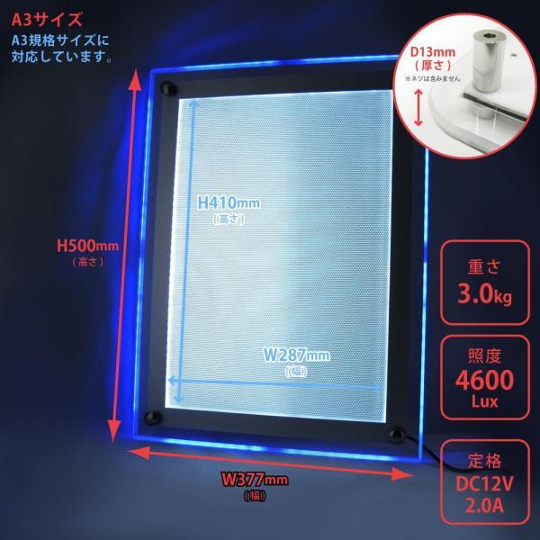 LEDパネル RGB A3 店舗ディスプレイ 送料無料|pascalstore|04