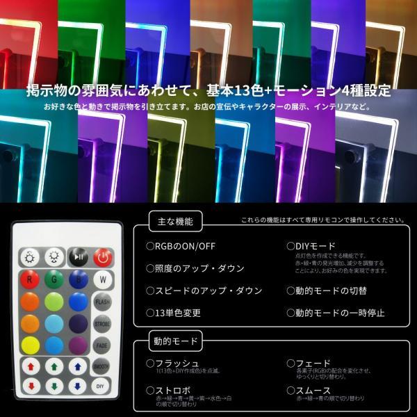 LEDパネル RGB A3 店舗ディスプレイ 送料無料|pascalstore|05
