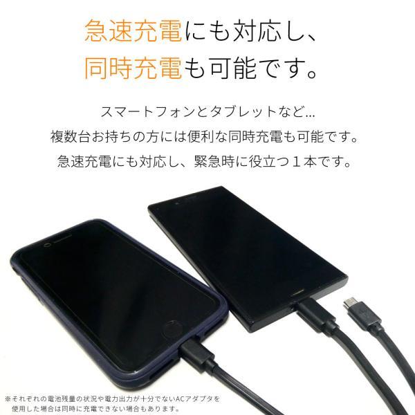 3in1 USB 充電 ケーブル 2m iPhone iPad スマートフォン タブレット|pascalstore|06