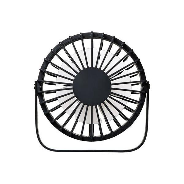 USB扇風機 卓上扇風機 2段階風力調整 ブラック