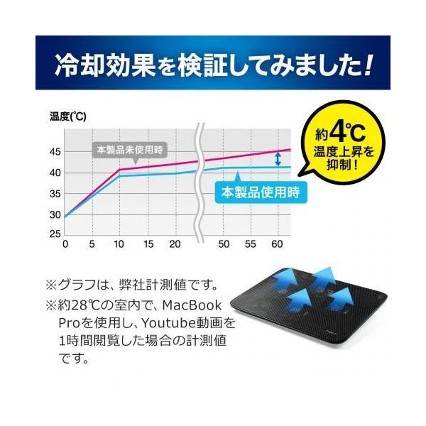 ノートパソコンクーラー 冷却台 静音 15.6インチ対応 4ファン USB給電 スタンド付き|paso-parts|03