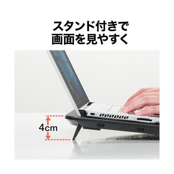 ノートパソコンクーラー 冷却台 静音 15.6インチ対応 4ファン USB給電 スタンド付き|paso-parts|06