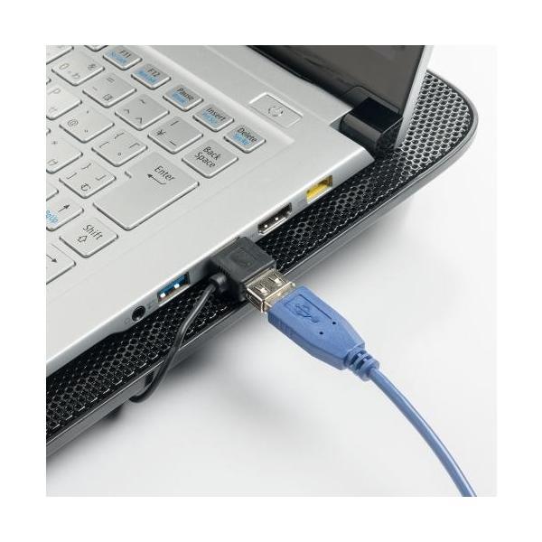 ノートパソコンクーラー 冷却台 静音 15.6インチ対応 4ファン USB給電 スタンド付き|paso-parts|09
