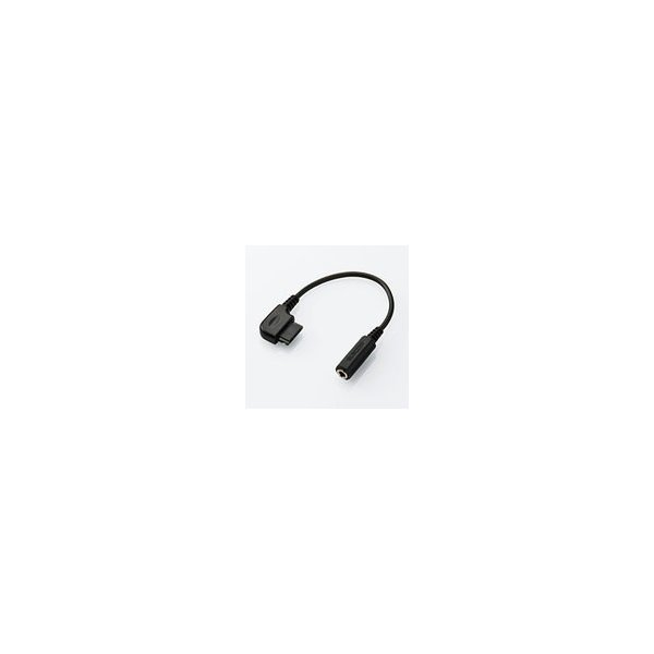 エレコム ケータイ用オーディオ変換アダプタ[ケーブルタイプ:8cm]  ブラックMPA-CA2BK MPA-CA2BK