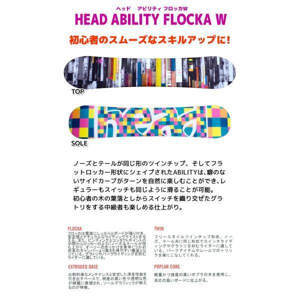 ヘッド スノーボード3点セット 15-16 ABILITY FLOCKA W ビンディング/ブーツ付き レディース アビリティ スノボ passo 02