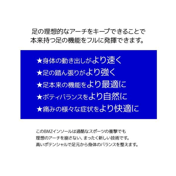 BMZ インソール CCLP カルパワー スマートサポート α イエロー NEEZ BMG 中敷き|passo|08