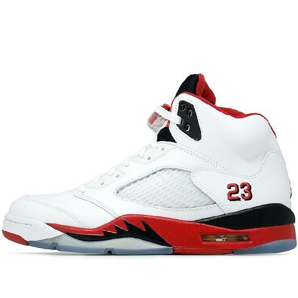NIKE AIR JORDAN 5 RETRO FIRE RED BLACK TONGUE WHITE/FIRE RED-BLACK ナイキ エア ジョーダン 5 レトロ 白赤黒 黒ベロ 136027-120|passover