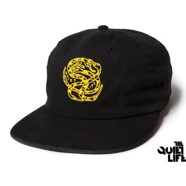 2017 HOLIDAY COLLECTION THE QUIET LIFE x NATHAN BELL SNAKEPIT 6 PANEL POLO HAT BLACK クワイエットライフ スネークピット 17HOL-4107|passover