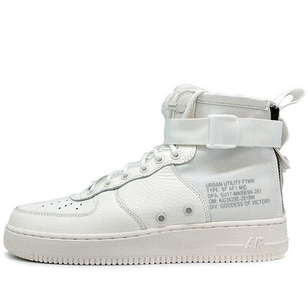 NIKE SF AF1 SPECIAL FIELD AIR FORCE 1 MID TRIPLE IVORY ナイキ スペシャル フィールド  エアフォース ...