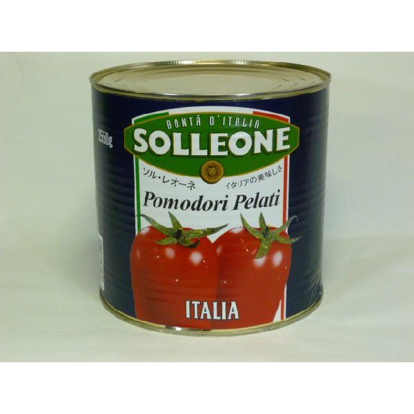 業務用トマト缶 ソルレオーネ  ホールトマト  ケース売り 2550g× 6