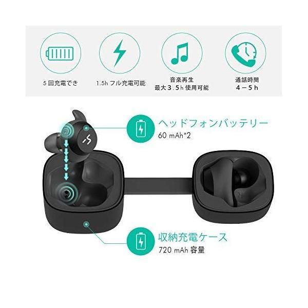 黒) HAVIT「Bluetooth 5.0 」完全ワイヤレスイヤホンTWSイヤホン Bluetooth イヤホン ブルートゥース イヤホン|pastelcolors|03