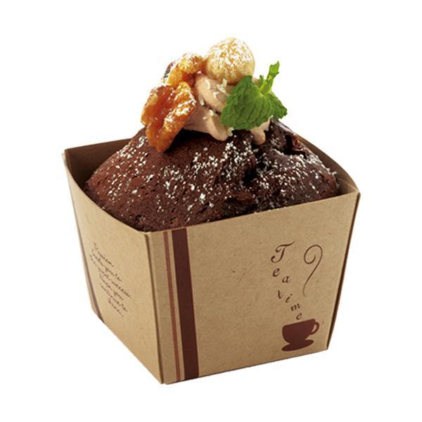 クラフトキューブ M(ティータイム) 25枚入 マフィン型  マフィンカップ  カップケーキ  ベーキングカップ  紙型  紙 お菓子作り 手作り 製菓用品 BT57-25