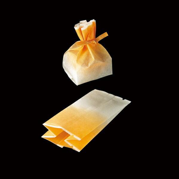 ラッピング袋 (グラデーション) 100枚入 マチあり マフィンカップ S対応/エージレス対応 小分け袋  焼菓子袋  ラッピング小分け   紙型  紙 FS6200-100