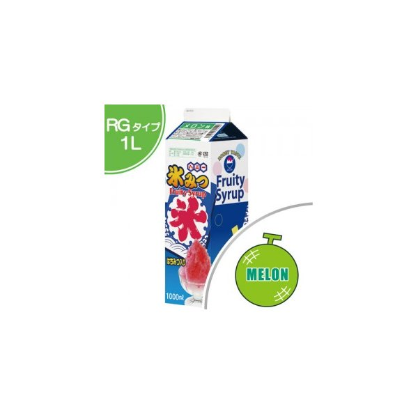 かき氷 シロップ メロン 1.0L 1本入  氷みつ , カキ氷 , お祭り , 縁日 HNML-1