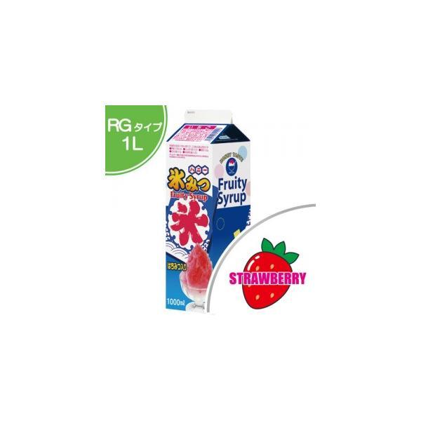 かき氷 シロップ  いちご 1.0L 1本入  氷みつ , カキ氷 , お祭り , 縁日 HNSB-1