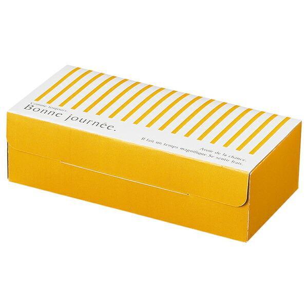 パウンドケーキ ボックス (ストライプ) 25枚入 ベーキングトレー L対応 菓子 箱 , ケーキ , ラッピング , テイクアウト ケーキ KSP301-25
