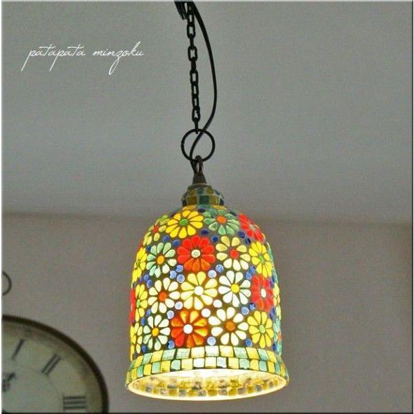 RoomClip商品情報 - フラワーボトル モザイク M ペンダントライト ペンダントランプ ステンドグラス 照明
