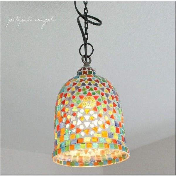 RoomClip商品情報 - サンボトル モザイクガラス ランプ M ペンダントライト ペンダントランプ ステンドグラス 照明