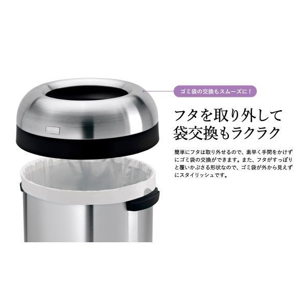 simplehuman シンプルヒューマン  ブレットオープンカン 60L (正規品)(メーカー直送)(送料無料)/ ステンレス  ゴミ箱 ダストボックス おしゃれ*CW1407*|patie|05