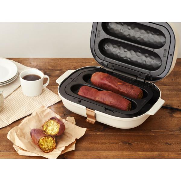 焼き芋メーカー ドウシシャ 3枚プレート付(焼き芋、平面、焼きおにぎり)  SOLUNA ソルーナ bake free TFW-103 *z-M-TFW-103*|patie|04