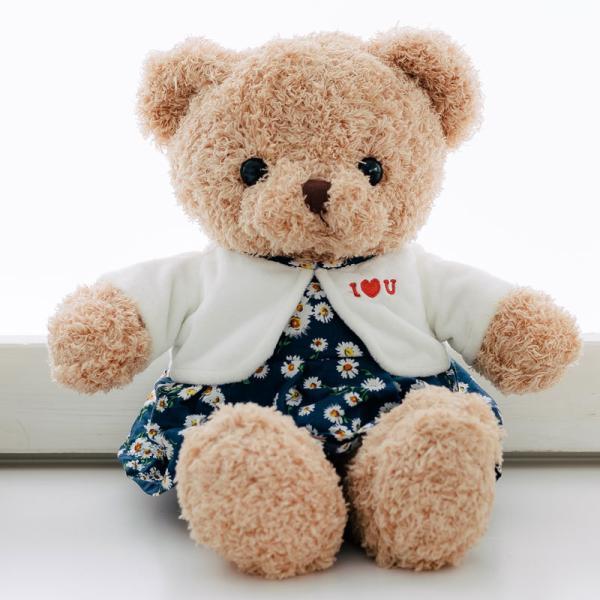 ぬいぐるみ テディベア くま ワンピース 花柄 可愛い ふわふわ 誕生日 35cm お洋服|patty|07