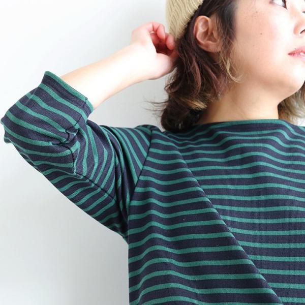 カットソー バスクシャツ 七分袖 コットン カットソー ボーダー ボートネック 日本製 レディース おしゃれ かわいい レディース paty 03