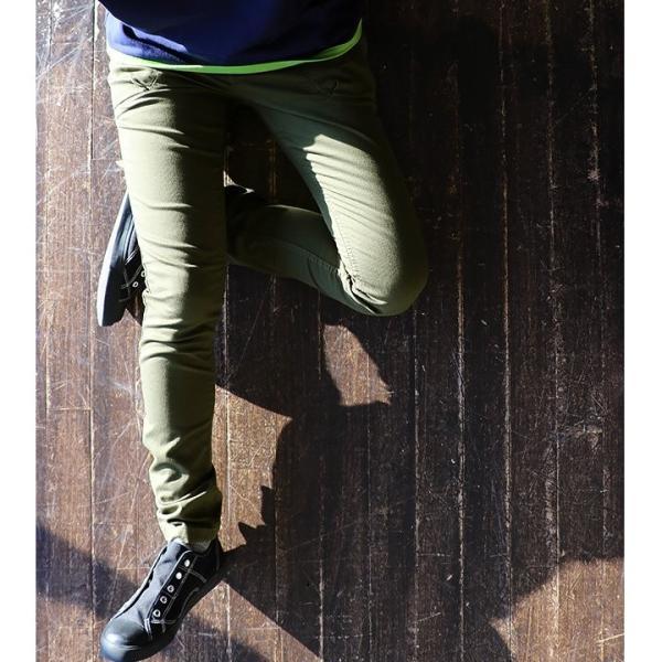 スキニー パンツ ストレッチ ピケ マジックポケット 日本製 配色 カラー ステッチ (アントゲージ) Antgauge  レディース|paty|05