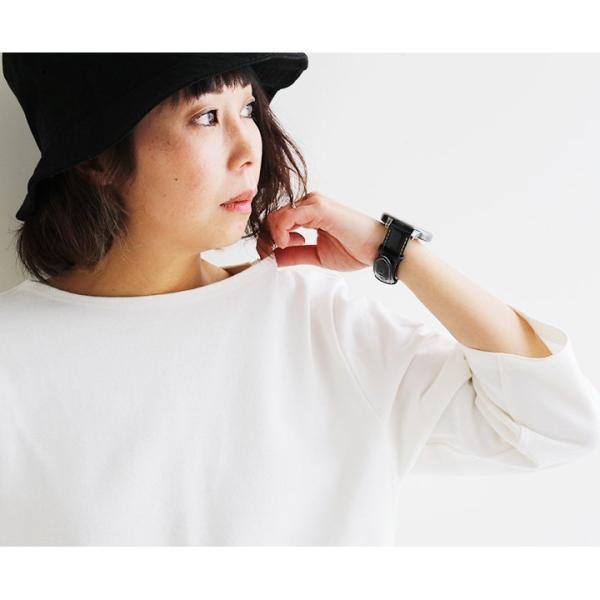 7分袖 カットソー  綿100% バスクシャツ ボートネック 日本製 コットン 無地  レディース SAIL|paty|11