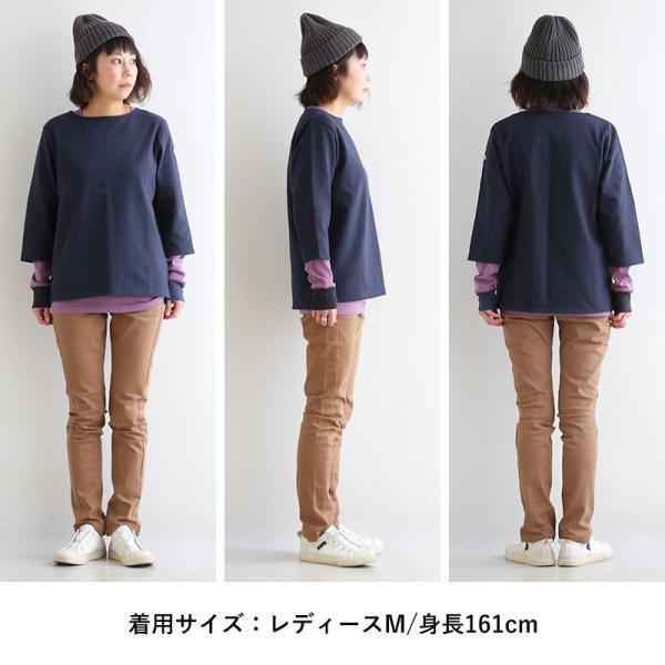 7分袖 カットソー  綿100% バスクシャツ ボートネック 日本製 コットン 無地  レディース SAIL|paty|16