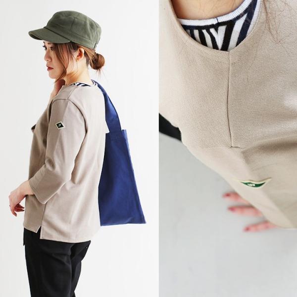 7分袖 カットソー  綿100% バスクシャツ ボートネック 日本製 コットン 無地  レディース SAIL|paty|09