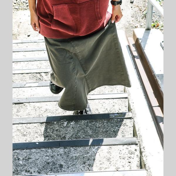 【ミリタリー企画】【予約販売】スカート マキシ丈 スカート ミリタリー ベイカー ビッグポケット 綿100% カツラギ (オールズ) OAR'S|paty|05