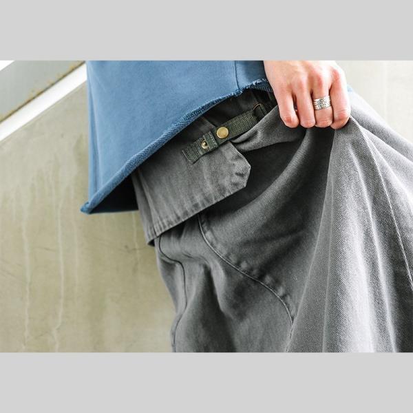 【ミリタリー企画】【予約販売】スカート マキシ丈 スカート ミリタリー ベイカー ビッグポケット 綿100% カツラギ (オールズ) OAR'S|paty|06
