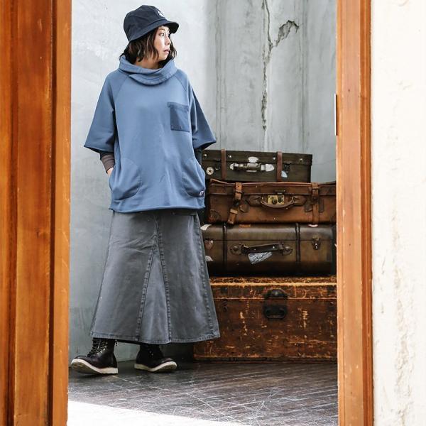 マキシスカート マキシ丈 ロング  ベイカー ハンター ポケット 綿100% 葛城 レディース ボトムス ポケット OAR'S|paty|09