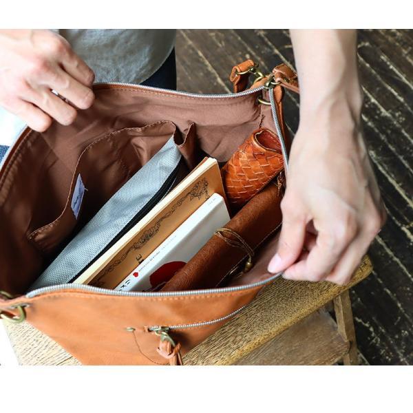 (レガートラルゴ) Legato Largo ショルダー バッグ PUレザー レディース ブラック ブラウン キャメル ネイビー 鞄 A4 春 夏  レディース paty 03
