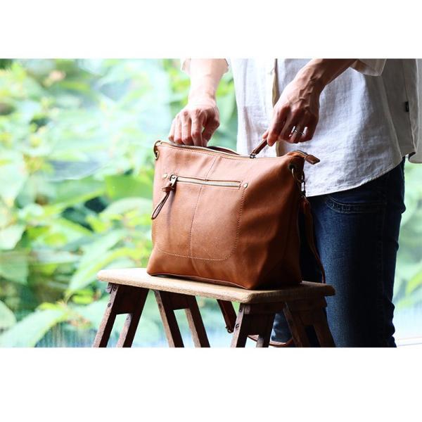 (レガートラルゴ) Legato Largo ショルダー バッグ PUレザー レディース ブラック ブラウン キャメル ネイビー 鞄 A4 春 夏  レディース paty 04