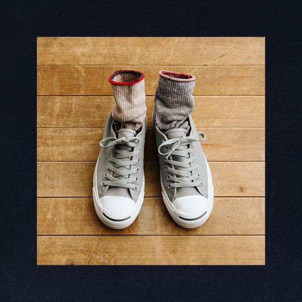 ソックス 靴下リブ編み  配色 ベージュ ブルー グレー メンズ レディース 日本製 (スモールストーンソックス) SMALL STONE SOCKS 40代 50代|paty|05