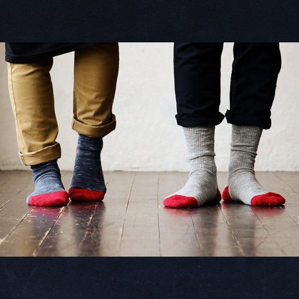 ソックス 靴下リブ編み  配色 ベージュ ブルー グレー メンズ レディース 日本製 (スモールストーンソックス) SMALL STONE SOCKS 40代 50代|paty|06