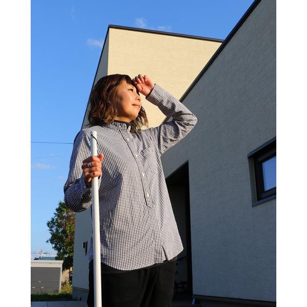 シャツ 日本製 長袖  バンドカラー ギンガムチェック柄 フェイク プルオーバー  ギンガムチェックシャツ paty 07