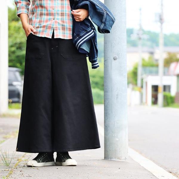 ガウチョパンツ スカーチョ ワイドパンツ マキシスカート風 ウエストゴム ストレッチ入り 大きいサイズ|paty|03