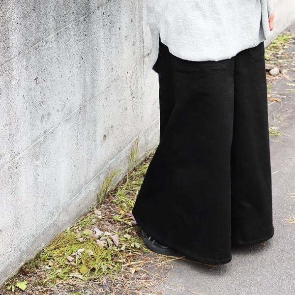 ガウチョパンツ スカーチョ ワイドパンツ マキシスカート風 ウエストゴム ストレッチ入り 大きいサイズ|paty|05