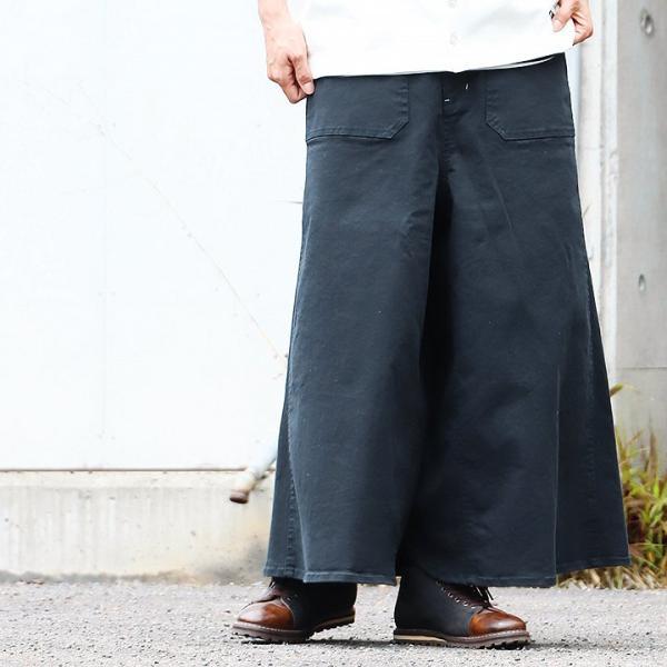 ガウチョパンツ スカーチョ ワイドパンツ マキシスカート風 ウエストゴム ストレッチ入り 大きいサイズ|paty|08