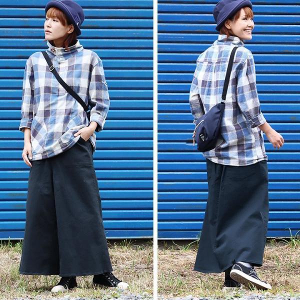 ガウチョパンツ スカーチョ ワイドパンツ マキシスカート風 ウエストゴム ストレッチ入り 大きいサイズ|paty|10