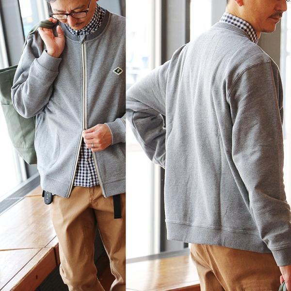 カーディガン 長袖 クルーネック ジップアップ 裏毛 スウェット USA コットン 綿100% 重ね着 大きいサイズ おしゃれ&CLOUd|paty|06