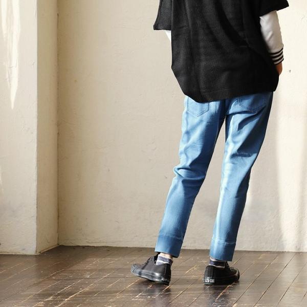 ジョグデニム ジョガーパンツ ニットデニム スキニー テーパード 裾切り替え ウエストゴム (アリュメール) ALLUMER 春 夏  レディース 春夏|paty|07
