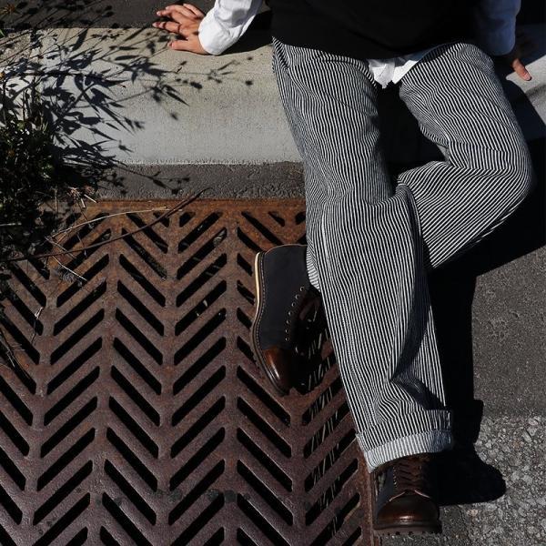 ジーンズ パンツ ストレート スレンダー ルーズストレート ヒッコリー (ジョンブル) Johnbull 春 夏  レディース|paty|08