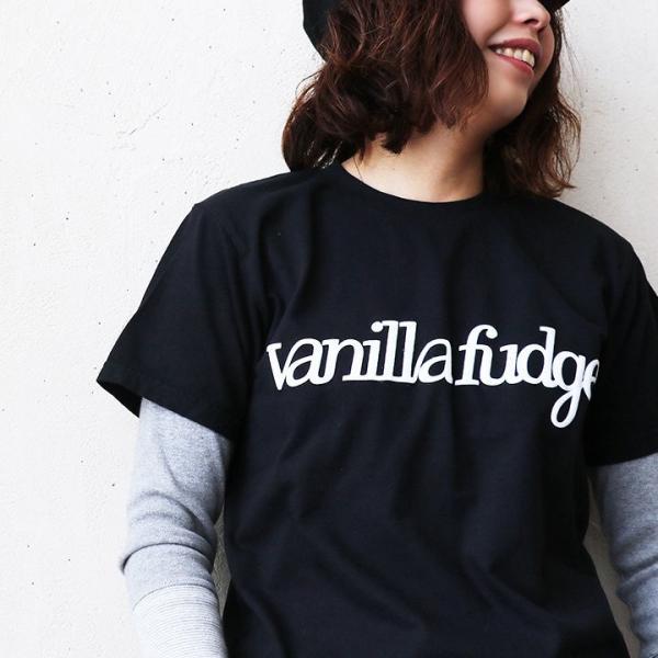 Tシャツ 半袖 クルーネック レディース ロゴプリント ボックスシルエット ユースサイズ Tee ヨレにくい  半袖シャツ  Vanilla fudge 夏 おしゃれ|paty|02