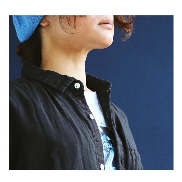 半袖シャツ シャツ 半袖 ダブルガーゼ レギュラーシャツ 通気性 メンズライク  (ティグルブロカンテ) TIGRE BROCANTE 40代 50代|paty|07
