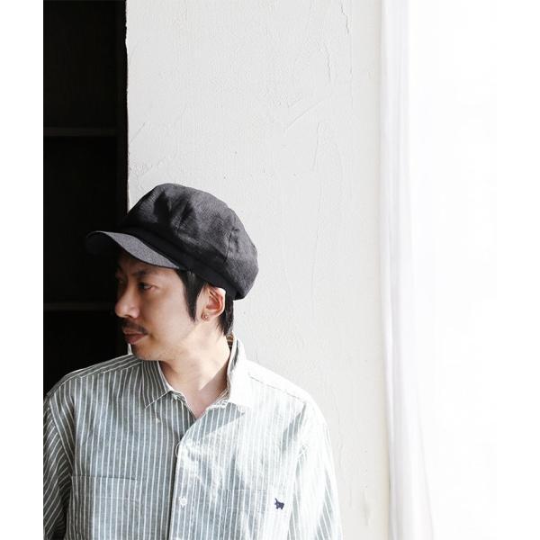キャスケット T.HAL 帽子 ぼうし キャップ 麻 麻素材 サイズ調整 チクチク感軽減 ドライ (グレース) grace  レディース メンズ|paty|03