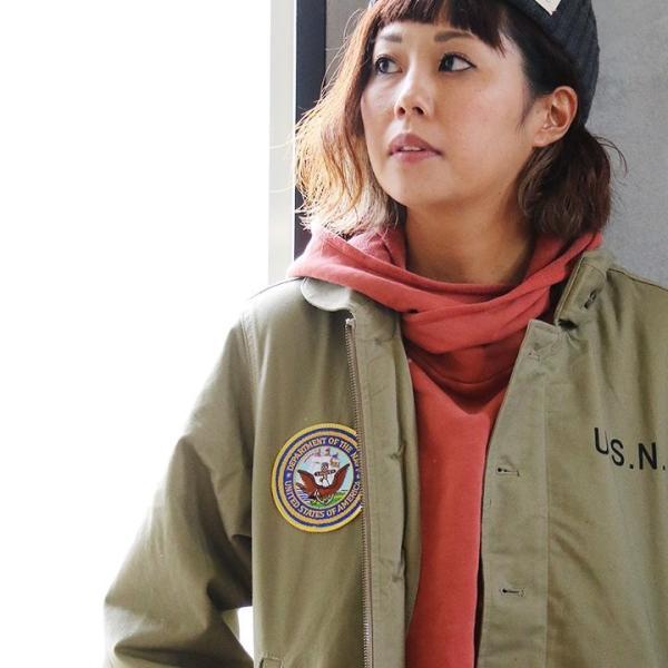N-1 DECKジャケット シャツジャケット ミリタリー シャツ ジャケット 星条旗 アメリカ海軍  (ヒューストン) HOUSTON|paty|07