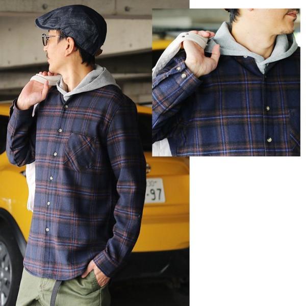 【A-暖か裏付】長袖シャツ ネルシャツ チェックシャツ シャツ  総裏地 フリース ボア フランネル チェック メンズ レディース 40代 50代 paty 08